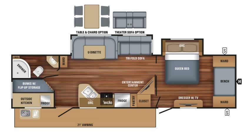 Design Your Own Travel Trailer Floor Plan Kitchen
