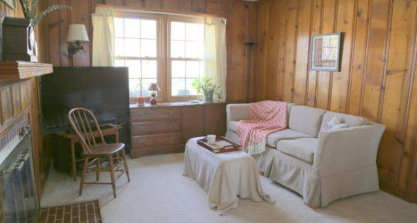 Designing Around Knotty Pine Wood Paneling Decorologist