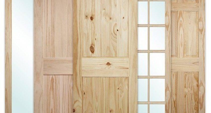 Discount Tall Pine Slabs Interior Wood Door Assortment