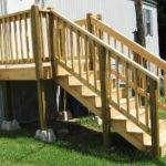 Distinct Mobile Home Porch Wodoen Stair Entrance Decor