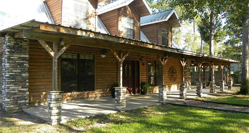 Distinctive Log Cabin Wrap Around Porch Bistrodre