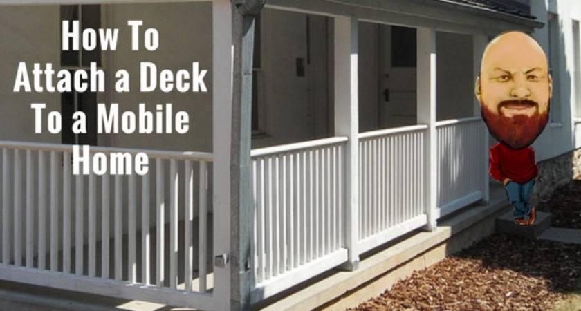 Diy Attach Deck Mobile Home Outdoor