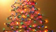 Diy Christmas Tree Made Lights Wall Warisan Lighting