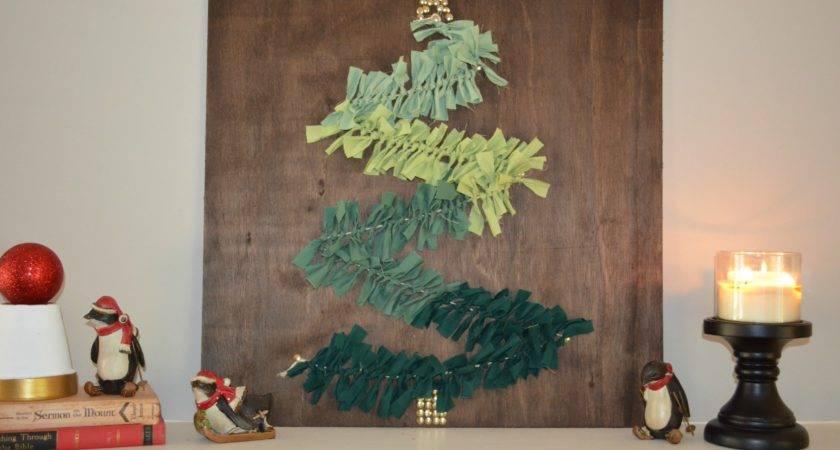 Diy Christmas Tree Wall Art Mantel Home
