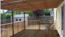Diy Covered Deck Designs Decks Home Decorating Ideas
