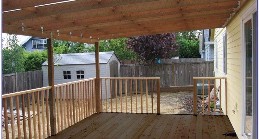 Diy Covered Deck Designs Decks Home Decorating Ideas