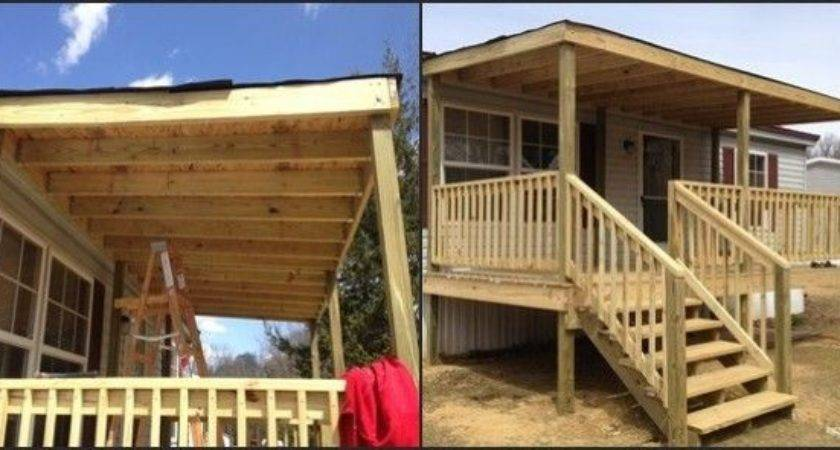 Diy Decks Porch Mobile Homes Custom Home