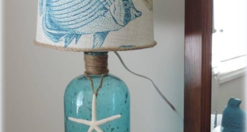 Diy Decor Beach Inspired Bottle Table Lamp