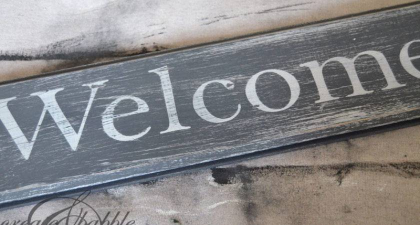 Diy Distressed Wood Welcome Sign Create Babble