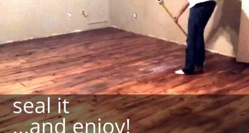 Diy Farm House Floor Easy Cheap Wood Floors