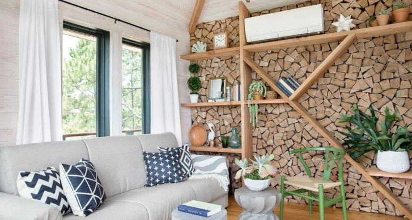 Diy Firewood Accent Wall Tos