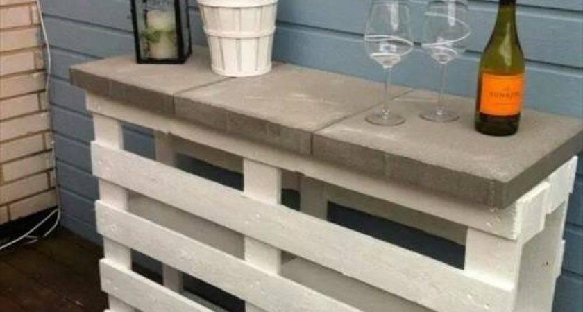 Diy Garden Wooden Pallets Table Designs