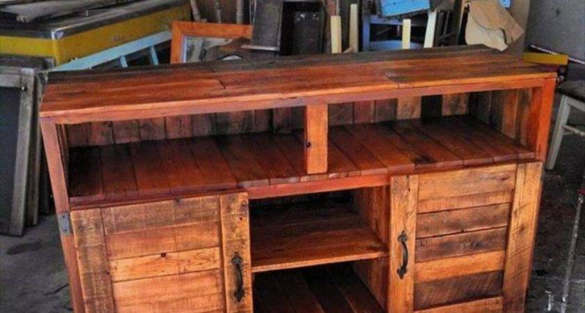 Diy Handmade Pallet Media Console Table Ideas Ilove Make