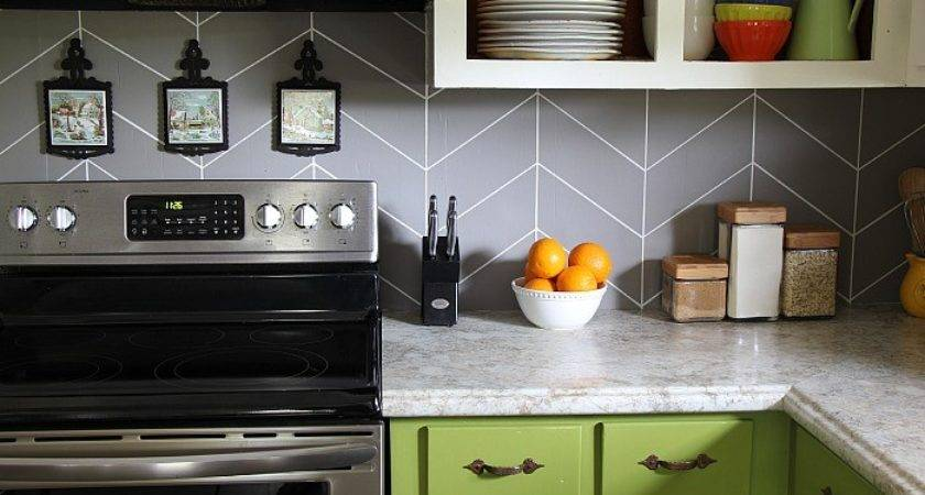 Diy Herringbone Tile Backsplash