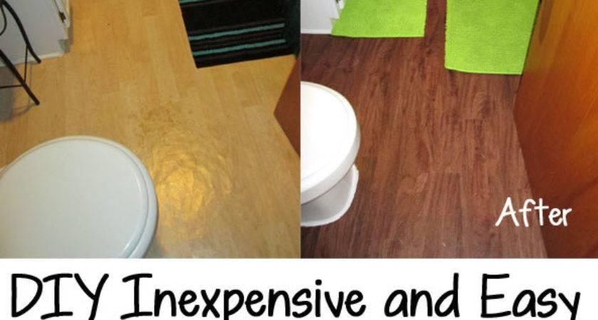 Diy Inexpensive Easy Bathroom Floor Install