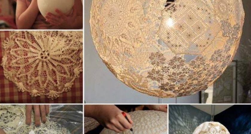 Diy Lacey Doily Lamp