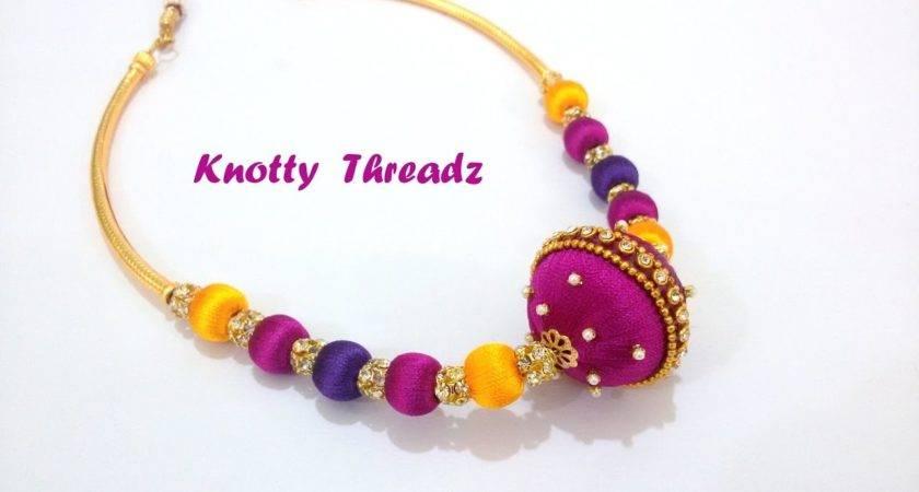 Diy Make Designer Silk Thread Necklace Home