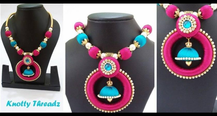 Diy Make Designer Silk Thread Necklace