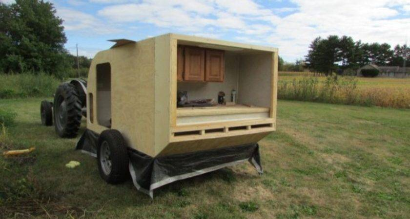 Diy Micro Camping Trailer Built Cheap