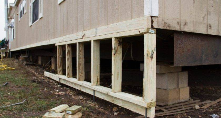 Diy Mobile Home Skirting Remodel Pinterest