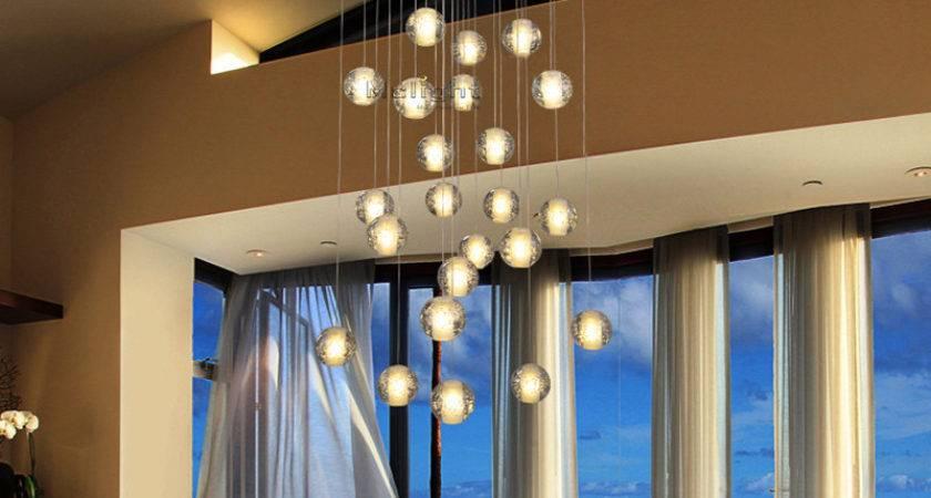 Diy Modern Led Crystal Pendant Lights Fixtures Magic