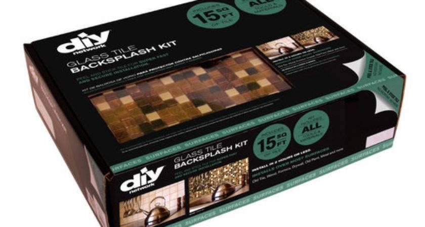 Diy Network Peel Stick Multi Grain Glass Tile Backsplah