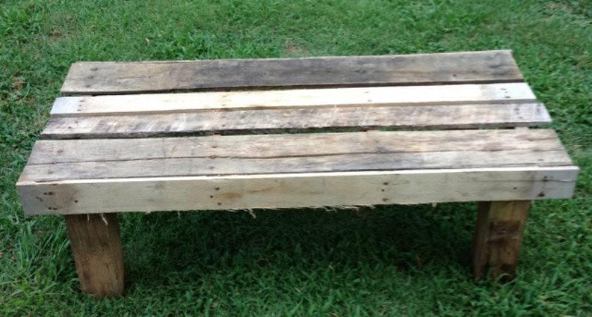 Diy Outdoor Pallet Bench Furniture Plans