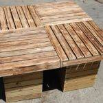 Diy Outdoor Pallet Patio Table Furniture