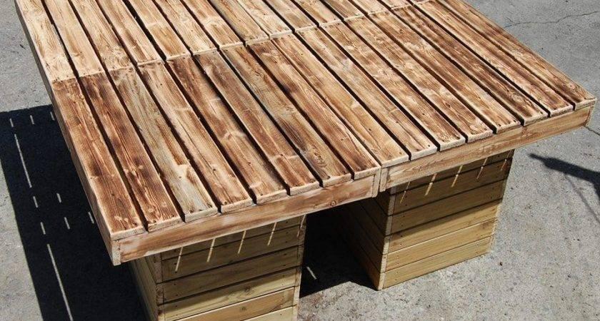 Diy Outdoor Pallet Patio Table Furniture