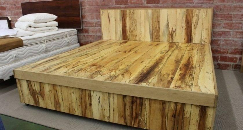 Diy Pallet Bed Frame Storage Instructions Home Design