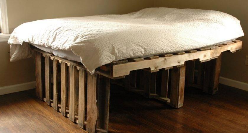 Diy Pallet Bed Instructions Furniture Gang