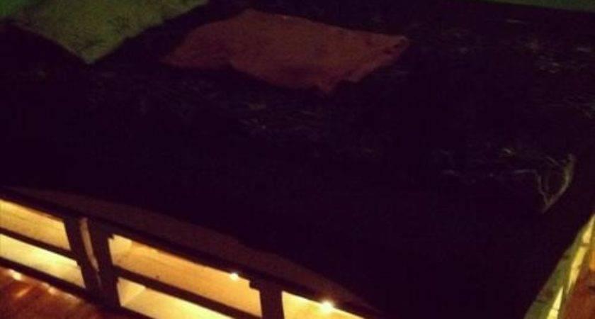 Diy Pallet Bed Lights Pallets Designs