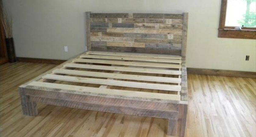 Diy Pallet Bed Plans Idea
