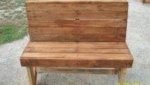 Diy Pallet Bench Instructions Furniture Plans