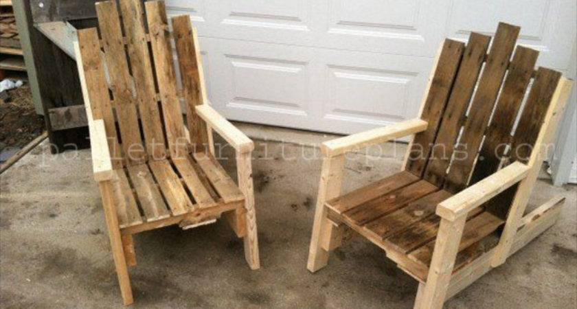 Diy Pallet Chair Collection Furniture Plans