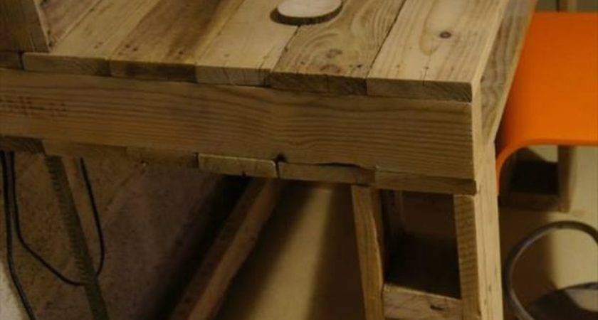 Diy Pallet Computer Desk Chair Furniture Plans