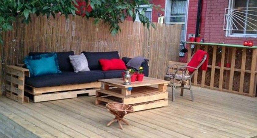 Diy Pallet Deck Furniture Pinteres