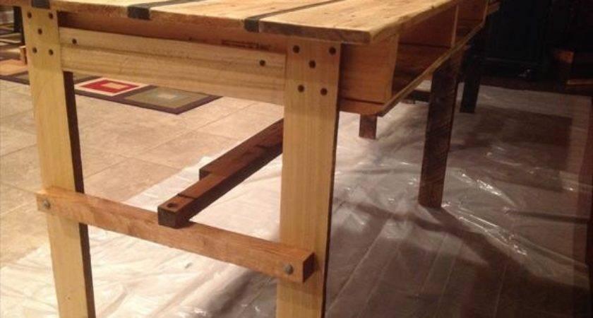Diy Pallet Desk Table Furniture Plans