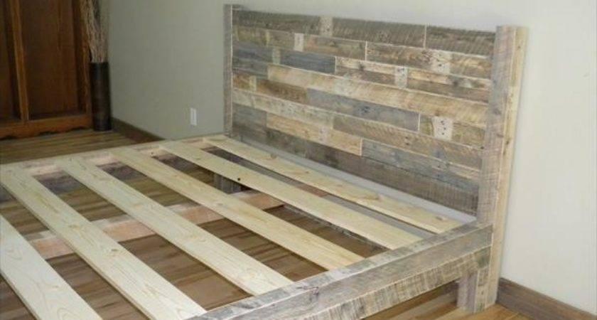 Diy Pallet King Bed Furniture Plans