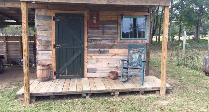 Diy Pallet Shed Outdoor Cabin Plans Pallets