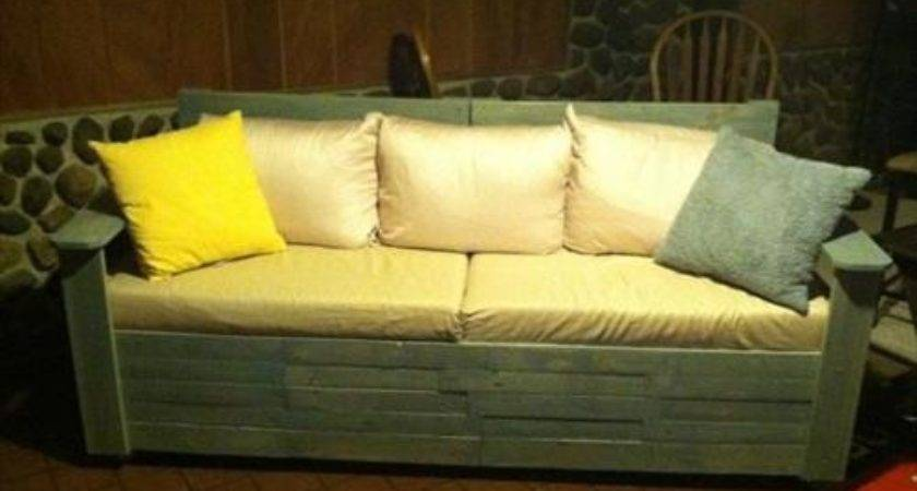 Diy Pallet Sofa Instructions Pallets Designs