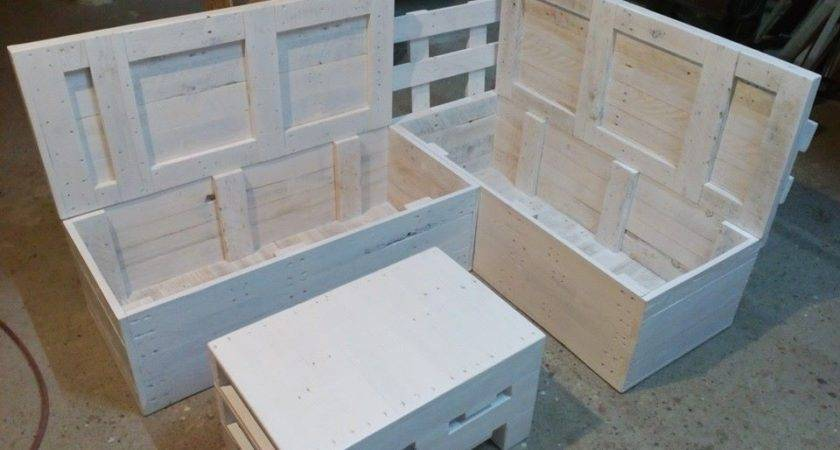 Diy Pallet Sofa Storage Total Survival