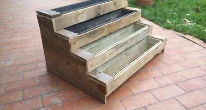 Diy Pallet Stairs Planter Pallets