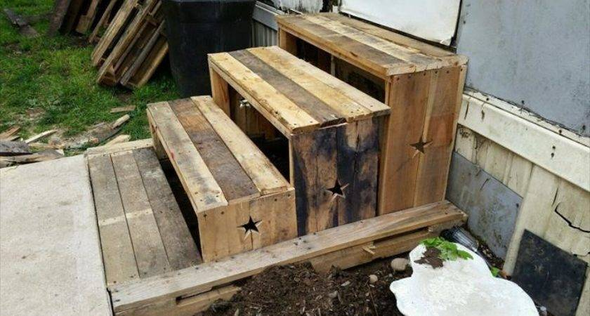Diy Pallet Step Stairs Reclaimed Furniture
