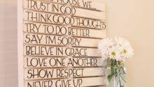 Diy Pallet Wall Art Love Home