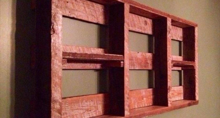 Diy Pallet Wall Shelf Storage Things