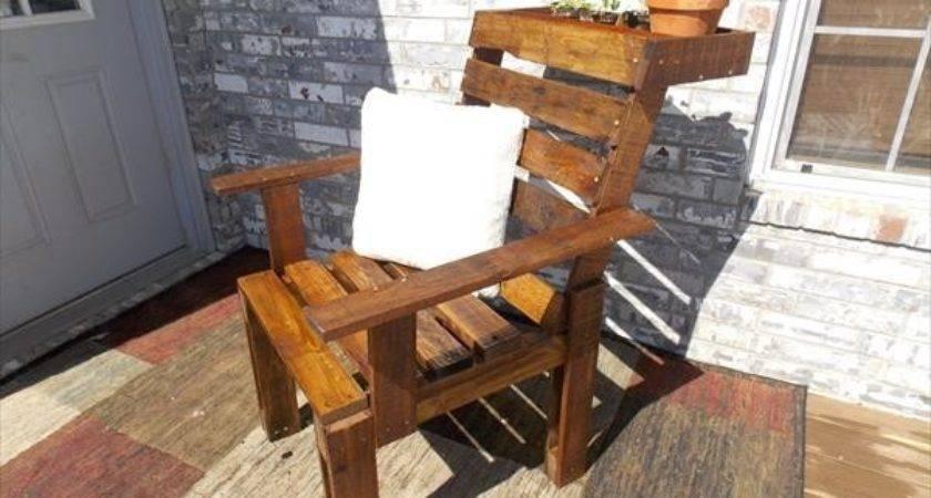 Diy Pallet Wood Chair Planter Furniture Plans