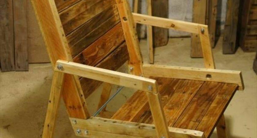 Diy Pallet Wood Rocking Chair Furniture Plans