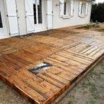 Diy Pallet Wooden Backyard Floor Project Ilove Make