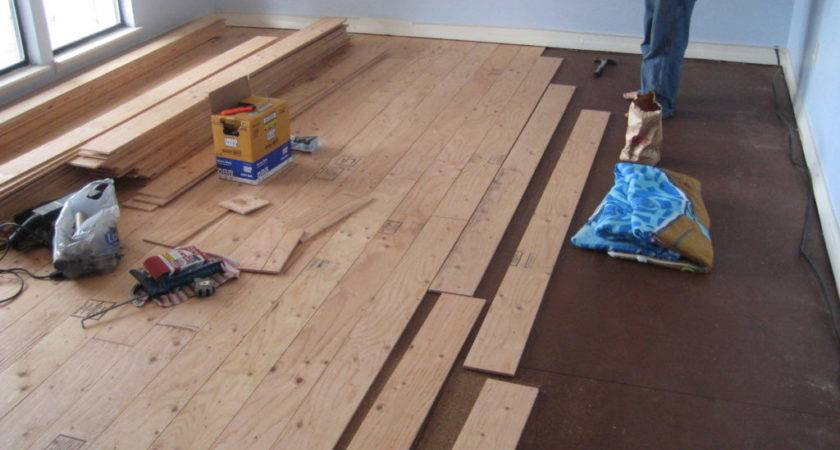 Diy Plywood Wood Floors Instructions Save Ton